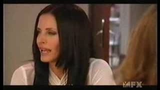 Courteney Cox  And Jennifer Aniston Kiss