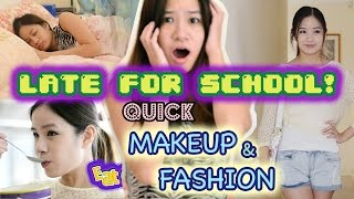 My Morning Routine for School | Quick Makeup & Fashion