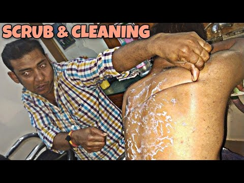 Xxx Mp4 Body Scrub And Body Cleaning By Indian Barber Powerful Neck Cracking ASMR 3gp Sex