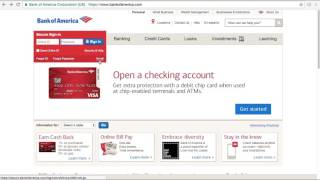 Bank of America Online Banking Login / Sign In - Nick Bails