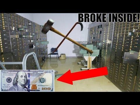 BUSTING OPEN LOCKED SAFES MONEY INSIDE Abandoned Bank With Money Still Inside