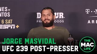 UFC 239 Post-Fight Press Conference: Jorge Masvidal talks record fast KO over Ben Askren