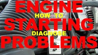 Diagnose car STARTING PROBLEMS - no start, Battery, Bad Connection, Starter, Alternator Test