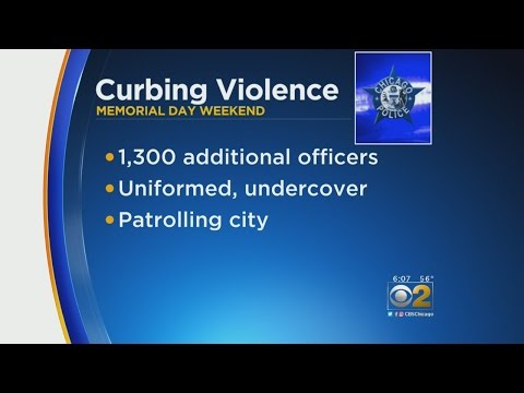 Chicago Police Add Over 1,000 Extra Officers To Memorial Day Weekend Patrols