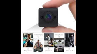 The SQ12 Mini DV Night Vision Motion Detection HD Video Camera Instructions Review And Unboxing