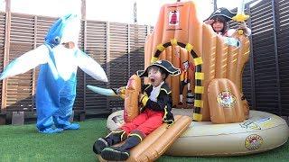 秘密基地へようこそ!! 海賊ごっこ サメでたーー!! こうくんねみちゃん Secret base Pirate Play