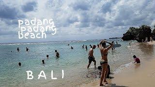 Banyak Bule Berjemur di Padang Padang Beach BALI |  Nude Island Nudist Beach