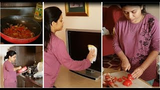 Indian wife manages daily responsibilities | Veg lunch routine | My daily routine