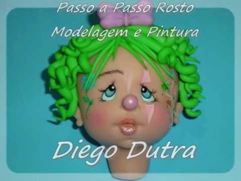 Diego Dutra Modelagem de Rosto e Pintura em Biscuit