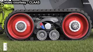 Claas adds Terra Trac with turning footprint of a wheel on forage harvesters