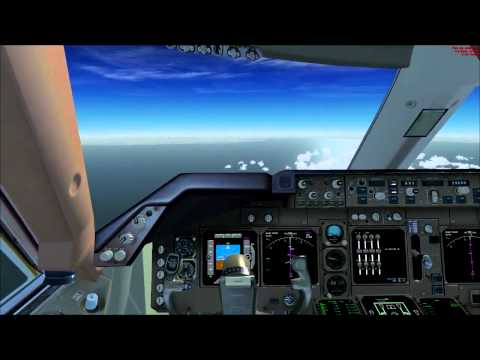 FSX HD Pmdg Boeing 747 400 Complete flight from London Heathrow to Paris Orly