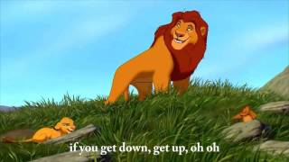 The Lion King - Waka Waka  - ♫ - Shakira -  English lyrics on screen