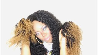 Unpacking | Aliexpress Queen Berry Hair Company|7A Ombre kinky curly|