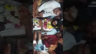 Avinash Poldas And Nagesh Kallur TP Member  Manikeshwara Birthday Celebration TP Member Nagesh Kallu