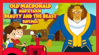 Old MacDonald Had A Farm - BEAUTY AND THE BEAST VERSION || Kids Rhymes - English Rhymes For Children