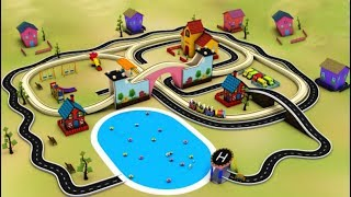 Cartoon for kids - Train fun for children - Kids Railway - Car Cartoon - Toy Videos