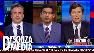 Hannity: D'Souza & Tucker Carlson Discuss The Infuriating Sanctimony Of The Clintons