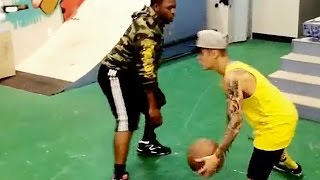 Justin Bieber Really Wants Us To Believe He Is Good At Basketball