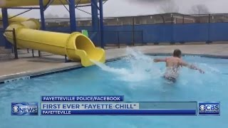 Fayetteville police raise $4,000+ for Special Olympics by taking a cold plunge