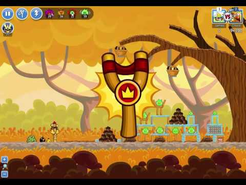 Angry Birds Friends Week 227b Autumn Harvest 3/4 Levels 1-6 on September 26th, 2016 799,585pts