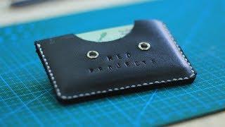 DIY Making a Minimalist Leather Wallet (Giveaway) - كيف تصنع محفظة جلدية صغيرة