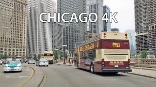 Driving Downtown - Chicago 4K - USA