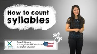 Learn how to count syllables to improve your English pronunciation☝🏼✌🏻🖐🏼 || American English🇺🇸