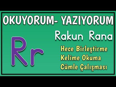 R Sesi Hece Birleştirme Kelime Okuma Çalışması - 1. Sınıf Okuma Yazma Öğreniyorum R Harfi
