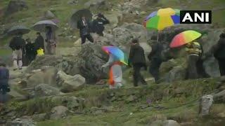 PM Modi en route to holy cave in Kedarnath
