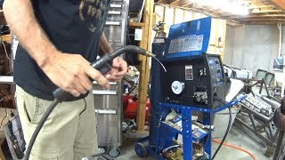 Welding Aluminum without a MIG spool gun for the first time