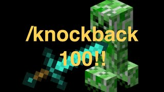 How to get Knockback 100 in minecraft