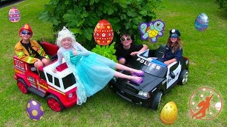 Little Heroes 39 - Ice Cream Frozen Elsa, The Litterbug and The Giant Hidden Surprise Eggs