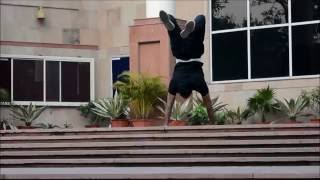 [Morning Motivation] Stair Handstand walk, Typewriter Pull ups Human Flag, back Roll in IIT Roorkee