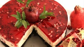 Pomegranate Cheesecake - No Bake Cheesecake Recipe -Cheesecake Idea - Heghineh Cooking Show