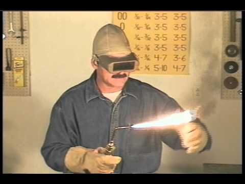 Oxy Acetylene Welding Gas Welding Adjusting The Flame