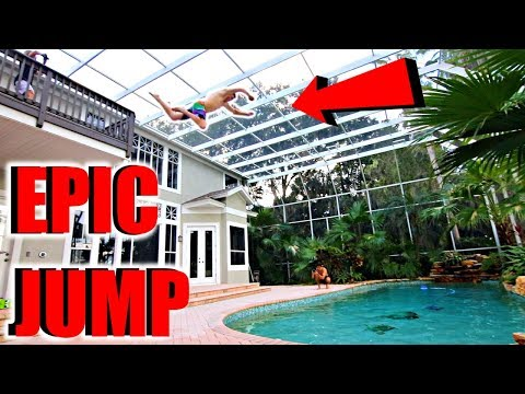 JUMPING Off 20 Foot Balcony INTO Pool