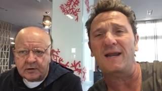 Gli auguri di Enzo Salvi e Massimo Boldi a Francesco Totti per i suoi 40 anni