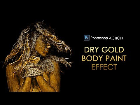Xxx Mp4 Photoshop Action Dry Gold Body Paint Effect For Dramatic Portraits Free Download 3gp Sex