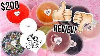 HUGE OG SLIME PACKAGE REVIEW!!! 100% HONEST SLIME REVIEW!