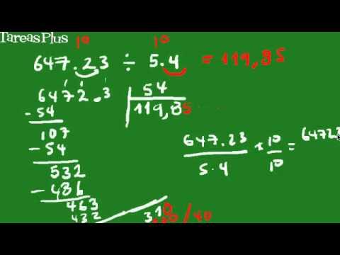 división de números decimales forma corta