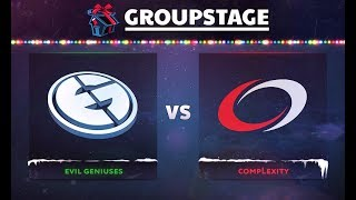 Evil Geniuses vs compLexity Game 1 - DOTA Summit 8: Group B - @JerAx @Fly @N0tail @S4