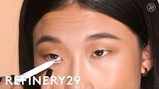 Waterline White Eyeliner Tutorial   Short Cuts   Refinery29