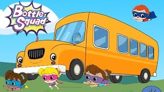 Wheels On The Bus | Bottle Squad | Kindergarten Cartoon and Nursery Rhyme Songs For Kids by Kids Tv