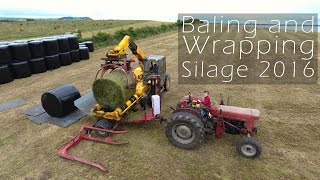 Baling and Wrapping Silage 2016 the Old School way!