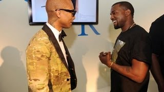 Kanye West Surprises Pharrell During A Q&A