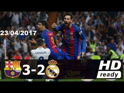 Real Madrid vs Barcelona 2-3 [23/4/2017] résumé Goles HD
