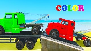 Learn Colors w Tow Truck Spiderman car cartoon video 3d for kids Nursery Rhymes for children
