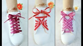 LACE SHOES | 15 cool ideas how to tie shoe laces | Creative Ways to fasten Shoelaces | Part 2