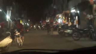 Driving a car at night in real traffic   Hindi