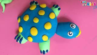 Clay art for kids | How to make a clay sea turtle | Clay animals | Art for kids